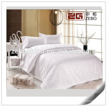100% Cotton Wholesale Hotel Bed Linen Jacquard White Bedding Sets